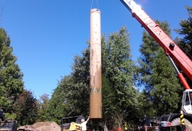 Princeton 42 inch casing being pulled out